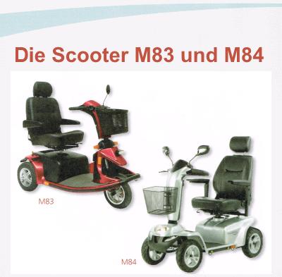 Scooter M83 und M84